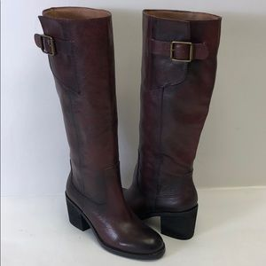 Lucky Brand Leather Dark Brown Boots New 6